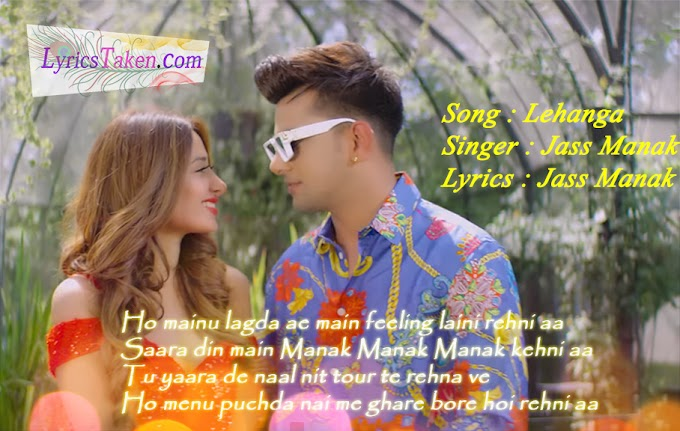 Lehenga Lyrics Jass Manak | jass manak |Panjabi Song| Lyrics Taken
