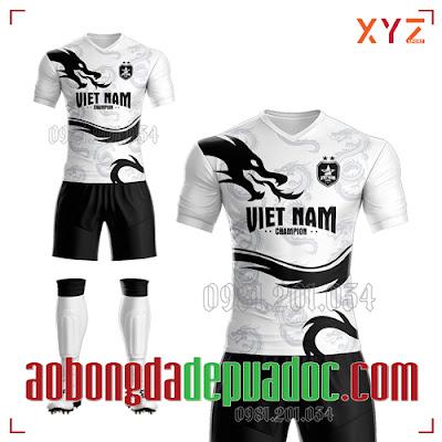 Áo Việt Nam 2020 Fifa Training Màu Trắng Đẹp Và Độc