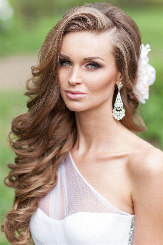 aqu las mejores imgenes de peinados para novias con pelo largo como fuente de inspiracin with peinados pelo largo novia
