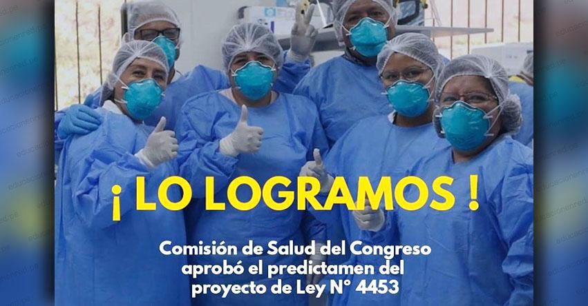 ASCENSOS AUTOMÁTICOS DE TRABAJADORES DEL SECTOR SALUD: Congreso aprobó por unanimidad Proyecto de Ley N° 4453