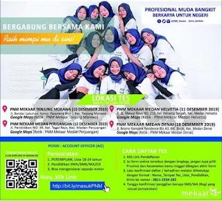 Rekrutmen Lowongan Kerja SMA SMK Diploma - S1 Desember 2019 PT PNM