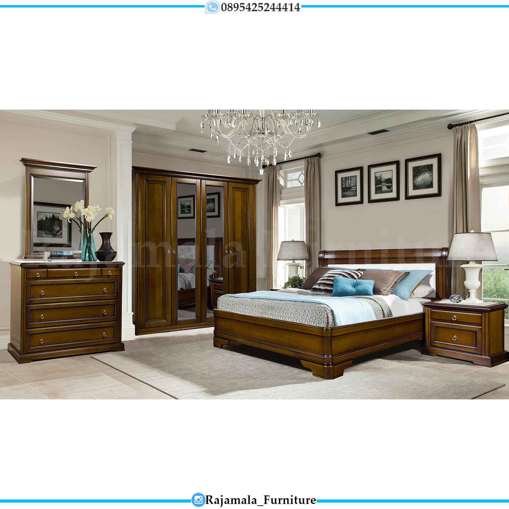 Kamar Set Minimalis Jati Natural Glossy Luxury Item RM-0077