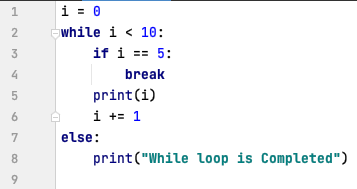 else statement in while loop - Python
