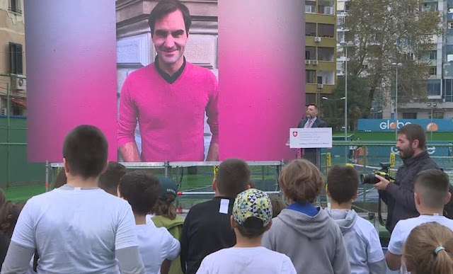 Roger Federer promotes tennis in Albania, 1200 children the beneficiaries