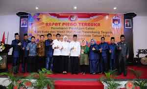 KPU Kota Palembang Tetapkan Harnojoyo dan Fitrianti Agustinda Sebagai Walikota dan Wakil Walikota Palembang Periode 2018-2023