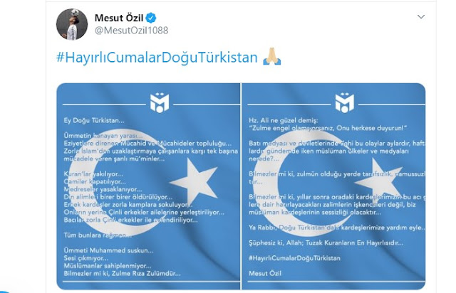 Arti Lengkap Postingan Mesut Ozil