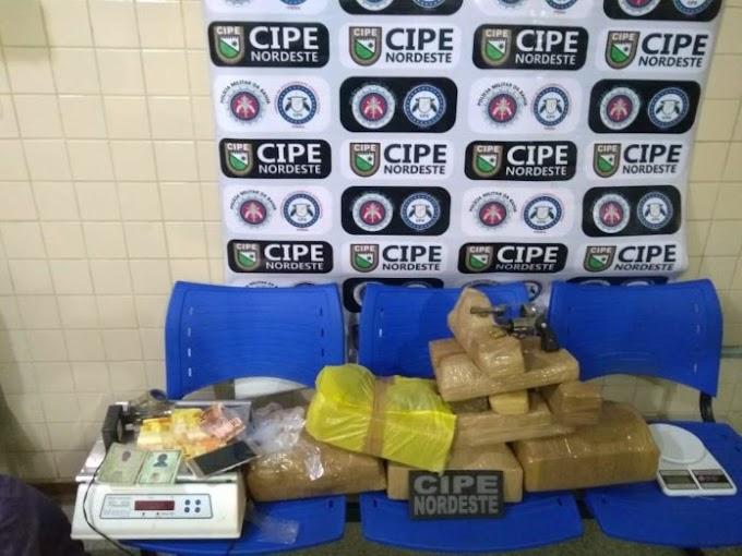 Polícia Militar apreende 26 quilos de maconha em Ribeira do Pombal