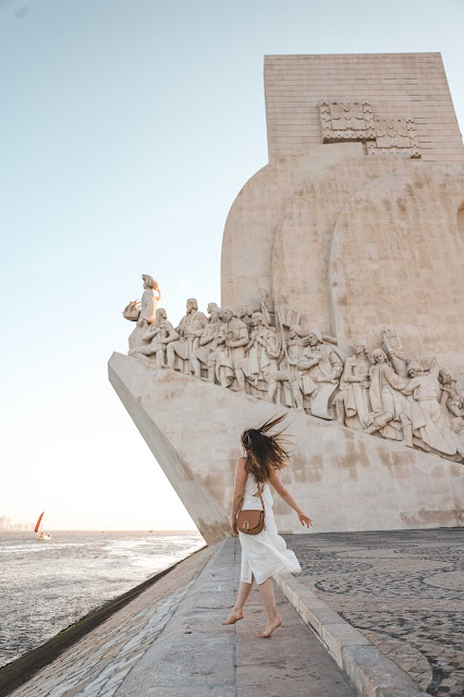 Alicia Mara at Monument to the Discoveries| Lisbon Guide Tips and Tricks