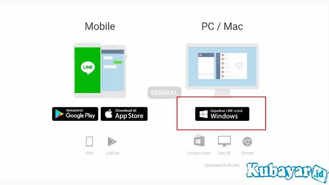 cara download line di laptop windows 8