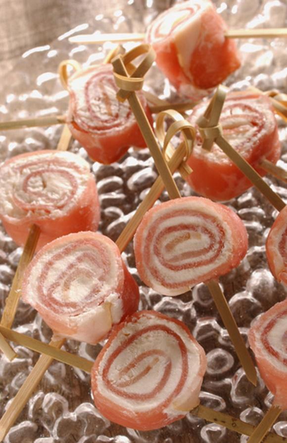 Petits Roulés De Jambon Au Fromage