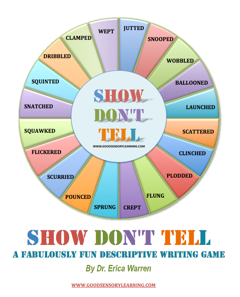show don t tell a descriptive writing game