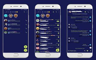 Blue Color Theme For YOWhatsApp & Fouad WhatsApp By Leidiane