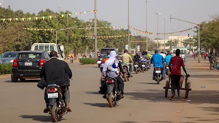 A lot of motorbikes are in Burkina Faso