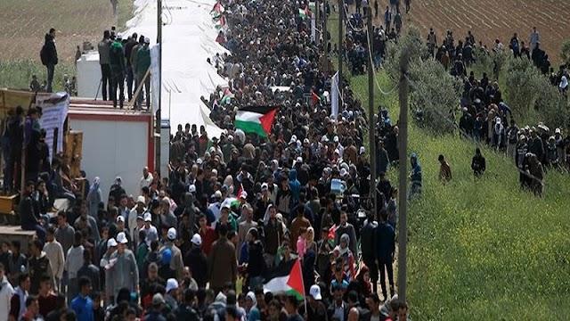 Merinding... Jalan Kaki Puluhan Kilometer, Rakyat Palestina Penuhi Masjidil Aqsa