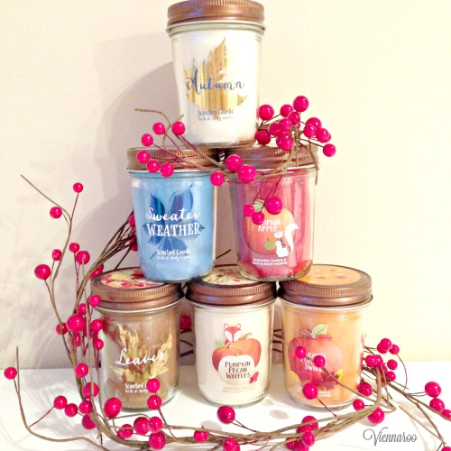 Bath and Bodyworks candles