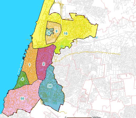 מפוארת מפת איזורי החניה של תל אביב PP-48