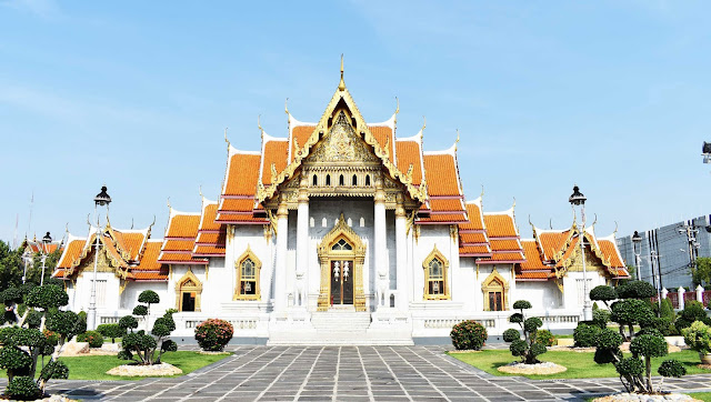 Marble temple en Bangkok