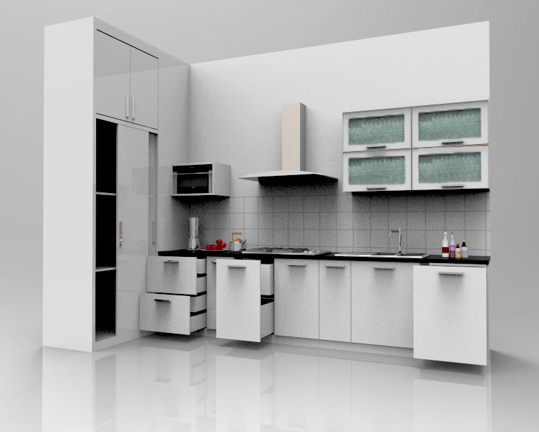 Kitchen set di bintara bekasi furniture kitchen set for Kitchen set tangerang