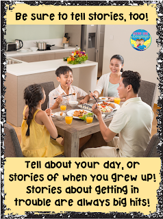 Tell stories! Kids especially love to hear about when you got in trouble!