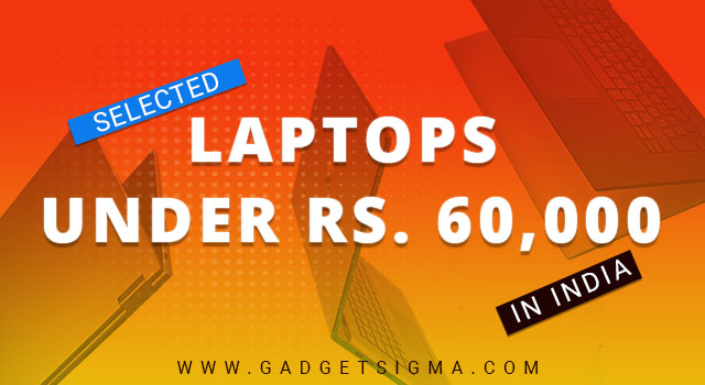 best laptops under 60000 india