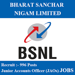 Bharat Sanchar Nigam Limited, BSNL, Post Graduation, Account Officer, freejobalert, Sarkari Naukri, Latest Jobs, Hot Jobs, bsnl logo