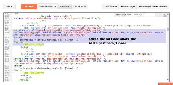 Adding Ad Code
