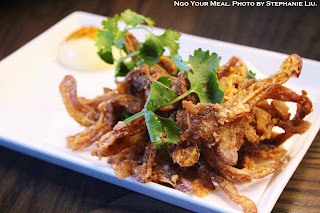 Crispy Mimiga: Pig Ear, Shichimi, Japanese Mayo, Sake at Momosan