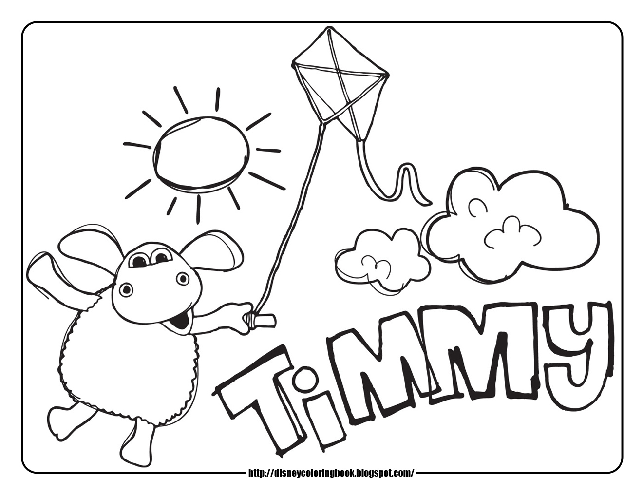Timmy Time 1 Free Disney Coloring Sheets