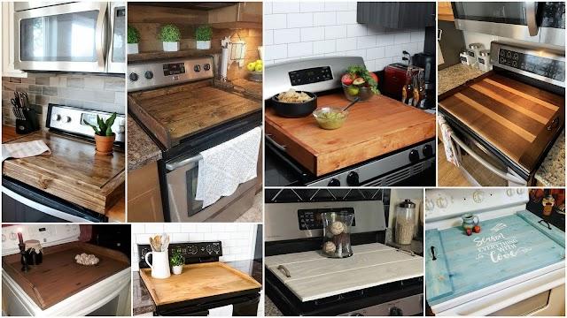 DIY Ξύλινα καπάκια - καλύμματα για ηλεκτρικές κουζίνες
