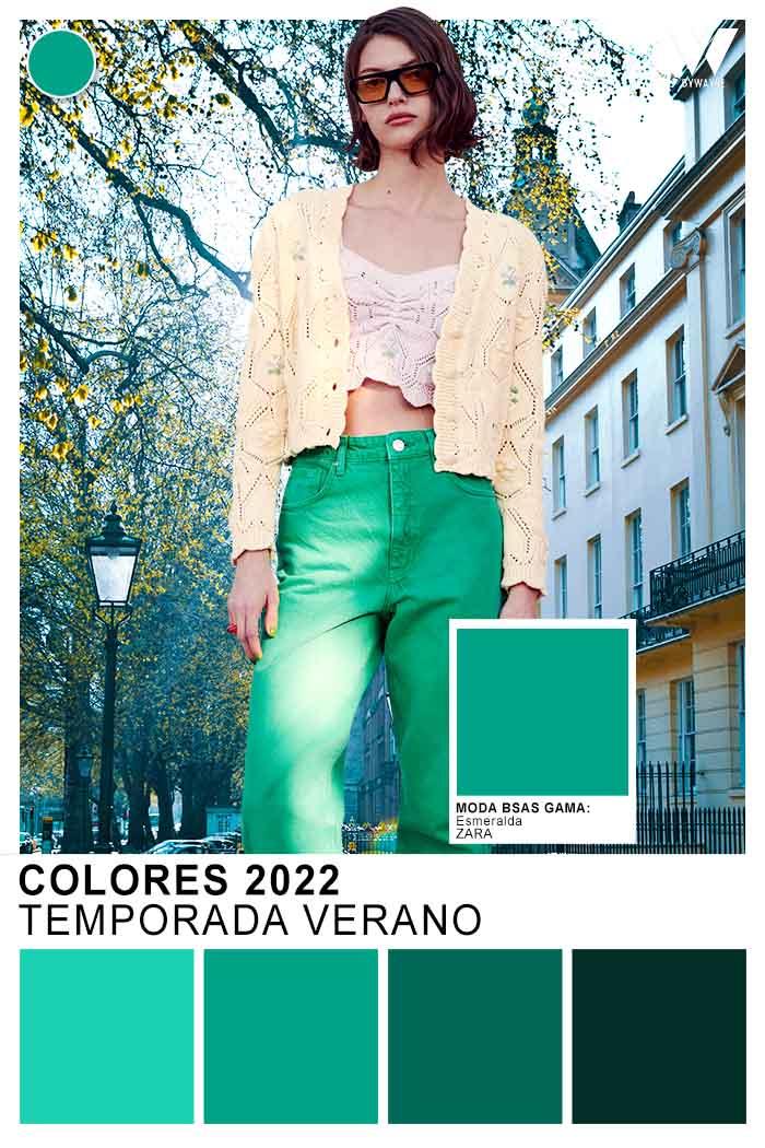 verde esmeralda colores de moda verano 2022