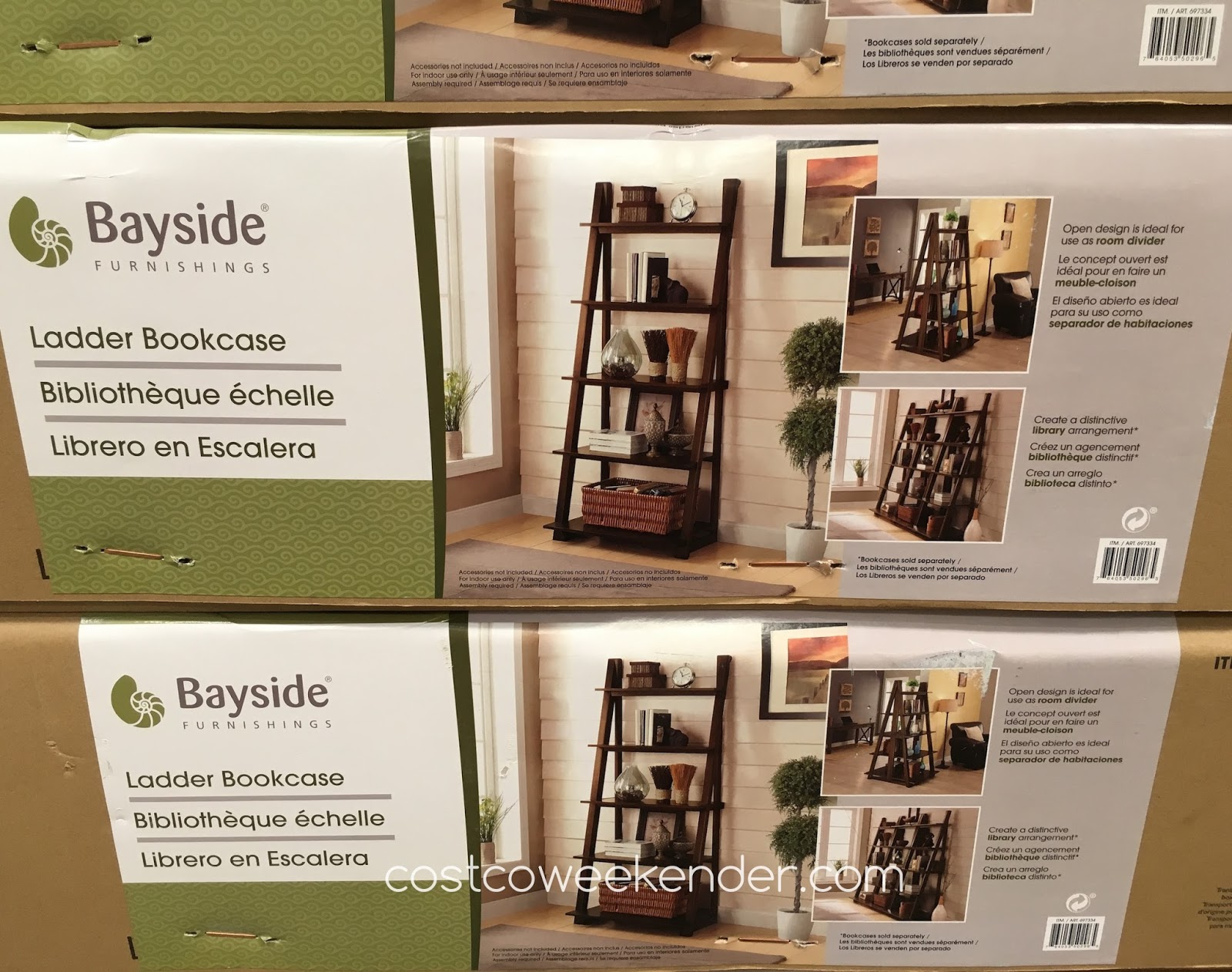 Bayside Furnishings Ladder Bookcase | Costco Weekender