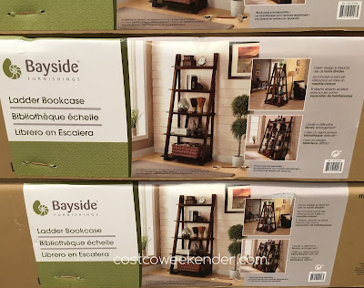 Costco 697334 - Bayside Furnishings Ladder Bookcase: elegant and classy yet practical