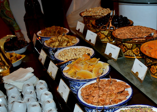 Iftar dried fruits and nuts at Dusit Thani
