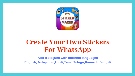 Create your own stickers for whatsapp