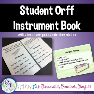 Picture of Student Orff Instrument Book available on TPT