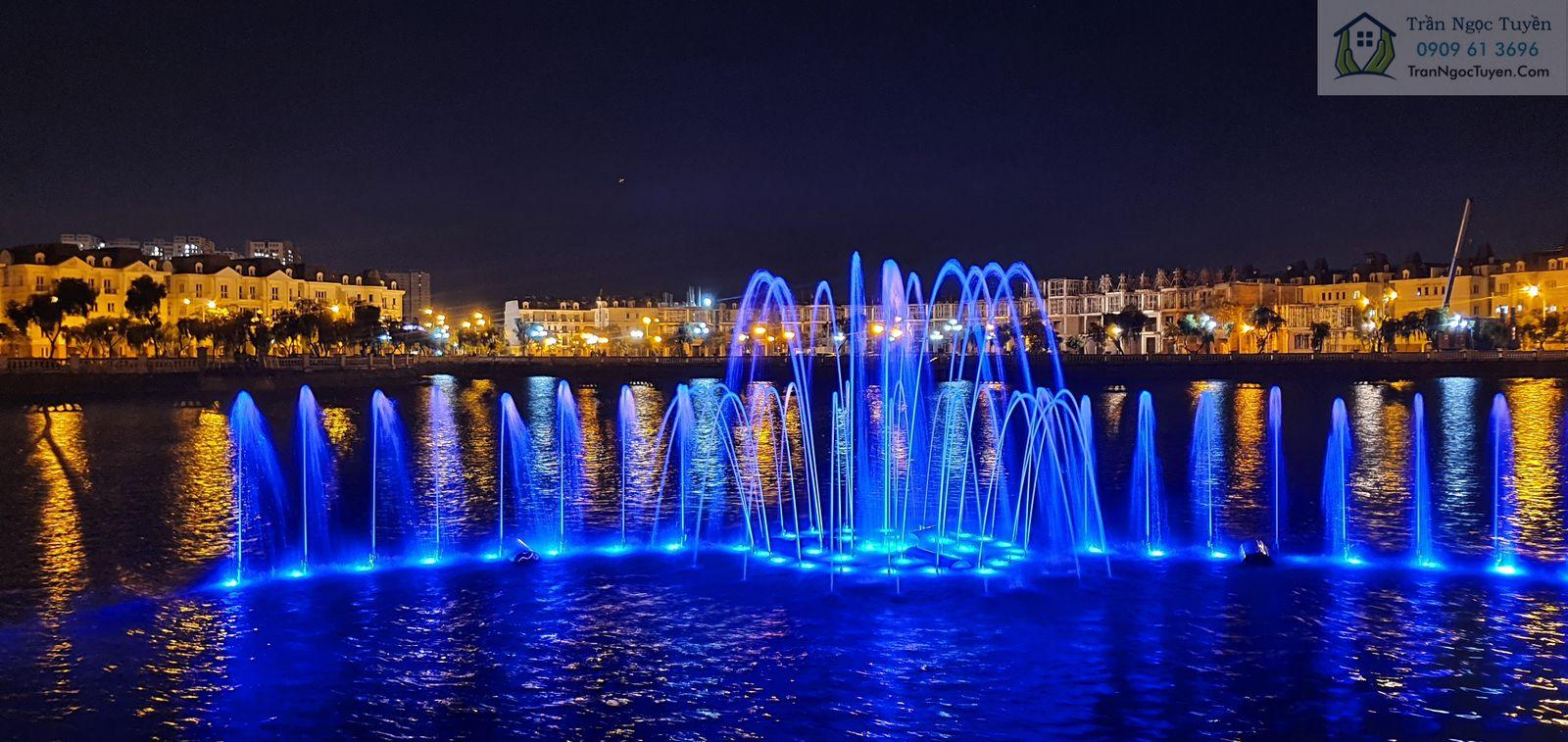 Khu đài phun nước tại Hồ trung tâm Khu đô thị Lideco