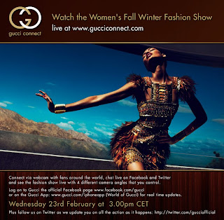 Watch Gucci's Fall/Winter 2011 show live from Milan Today!