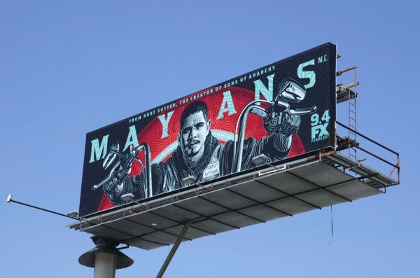 Mayans MC series launch billboard