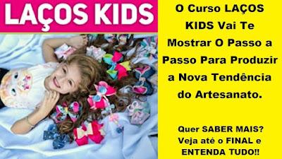 Curso Online de Laços Kids - Artesanato de Arranjos de Laços para Cabelo