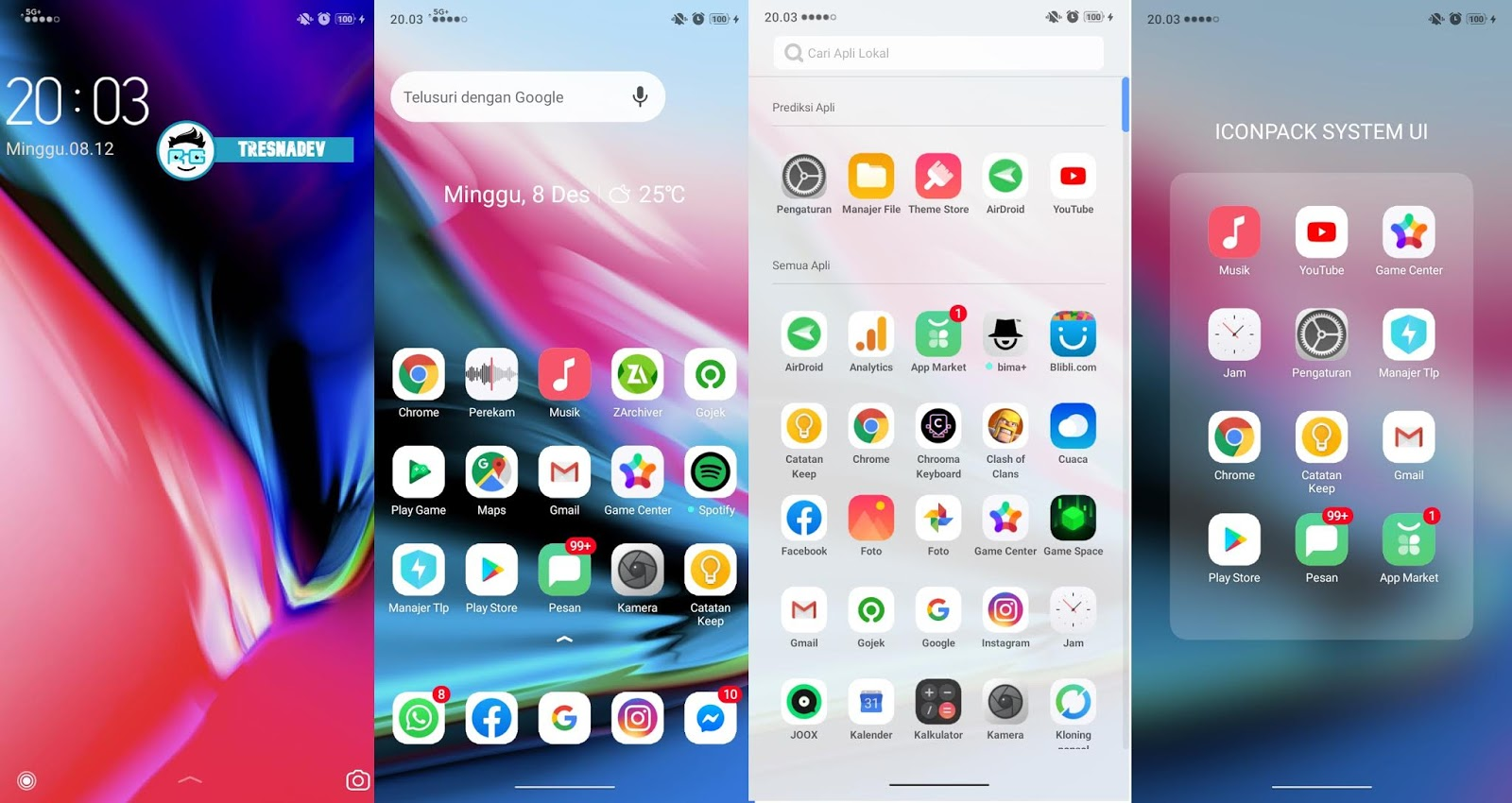 Themes iOS 13 Mini 5G+ Premium for OPPO & Realme
