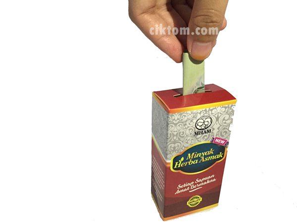 percuma kotak tabung minyak herba asmak