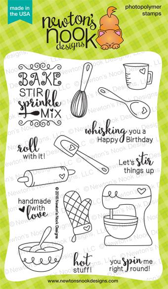 Made from Scratch Stamp Set | 4 x 6 Heart Baking Kitchen Stamp set | Newton's Nook Designs #newtonsnook