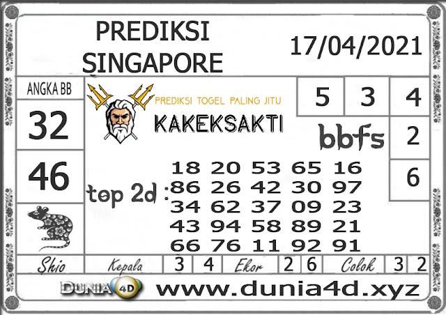Prediksi Togel SINGAPORE DUNIA4D 17 APRIL 2021