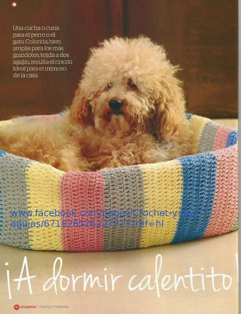 Cama de Perro de Crochet