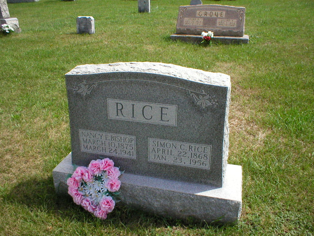 bf3600529 Tom's grandfather's name was Simon C. Rice (1868-1956). I've attached a  photo of his gravestone, which is at Stevens Chapel in Mattie, PA (Bedford  County, ...