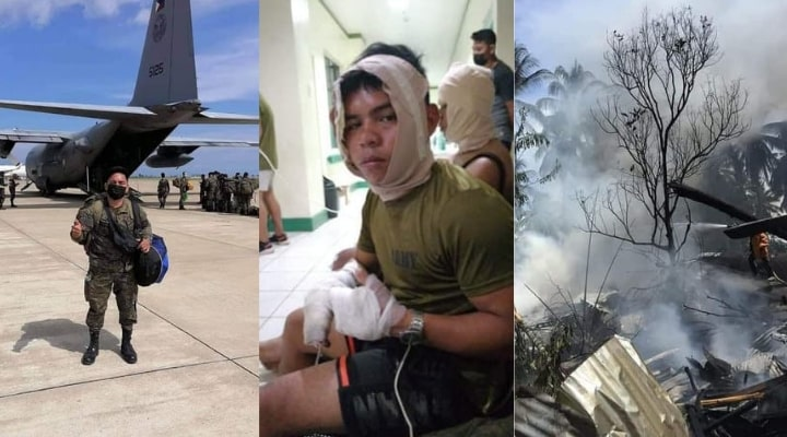Private First Class Nathaniel Bongcayao jumped off the burning C-130