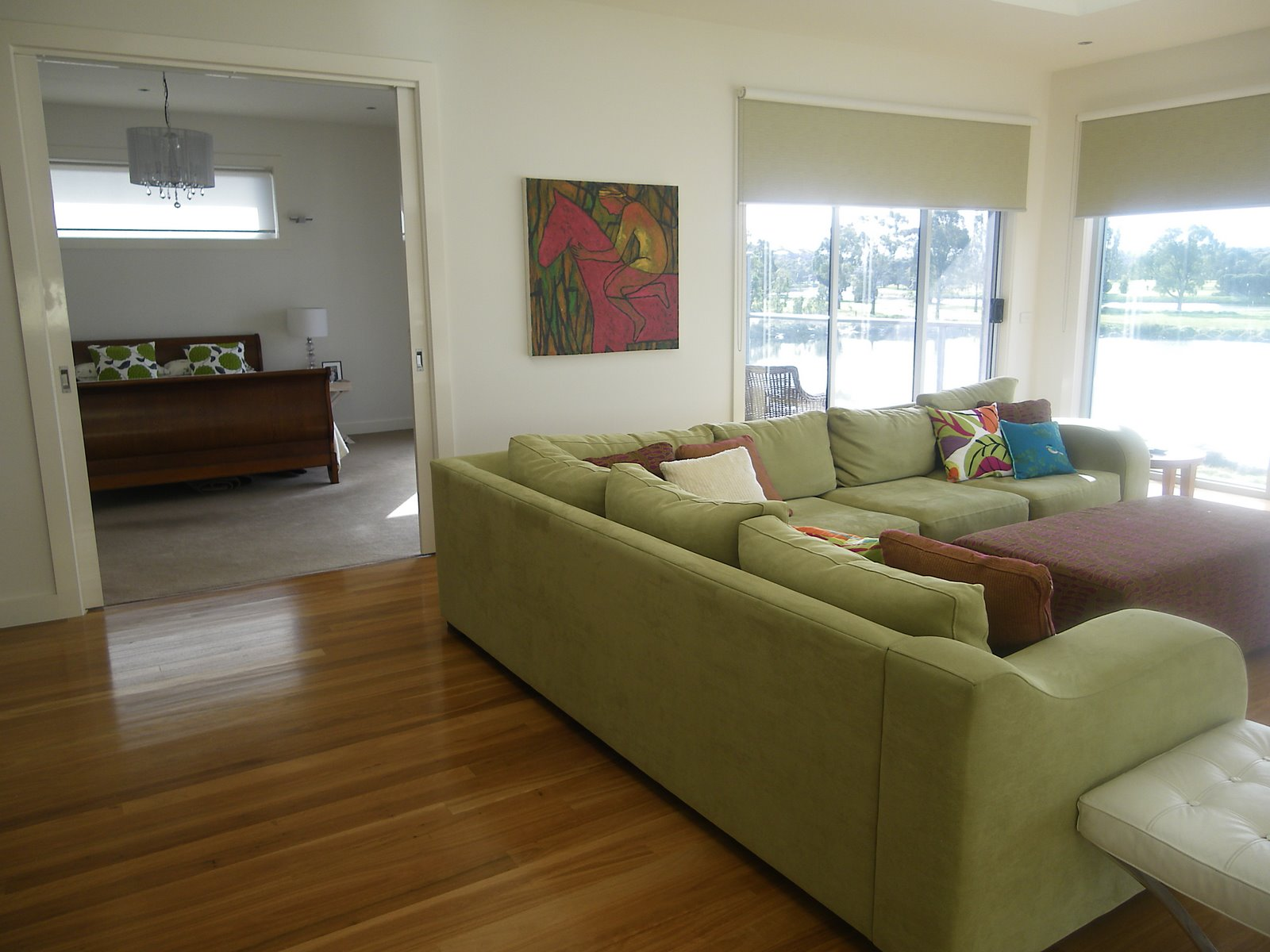 Decorating A Green Couch