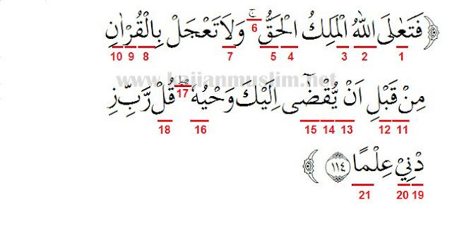 Hukum Tajwid Surat Thaha Ayat 114 Pembahasan Lengkap