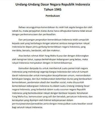 Pembukaan Undang-Undang Dasar 1945 (UUD 1945)