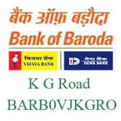 Vijaya Baroda Bank K G Road Branch New IFSC, MICR